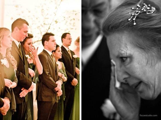 Madrinhas de casamento chorando