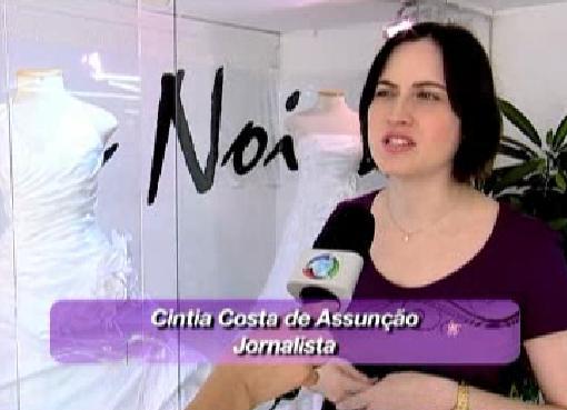 Cíntia Costa, do Planejando Meu Casamento, no programa Coisas de Mulher da TV Record