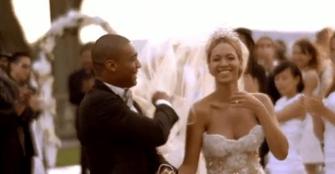 Beyoncé de noiva em casamento no clipe Best Thing I Never Had