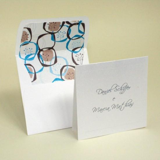 Cartão de agradecimento de noivos da Papel e Estilo.