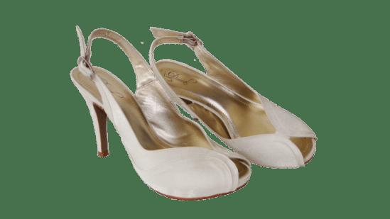Calçados de noiva: chanel de noiva branco da Durval Calçados