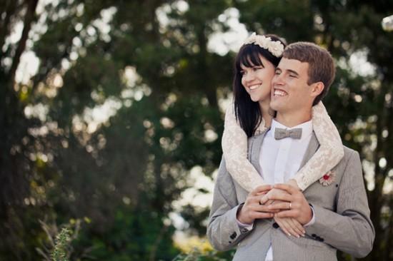 Noiva com franja. Casamento na Cidade do Cabo, África do Sul.