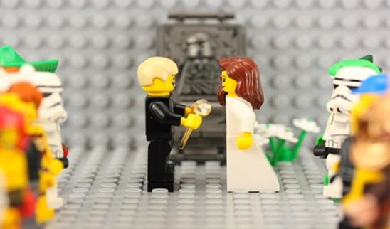 Pedido de casamento: stop motion de Lego