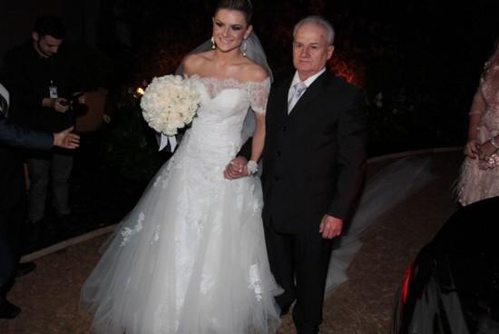 Entrada da noiva. Casamento Mirella Santos e Ceará do Pânico.