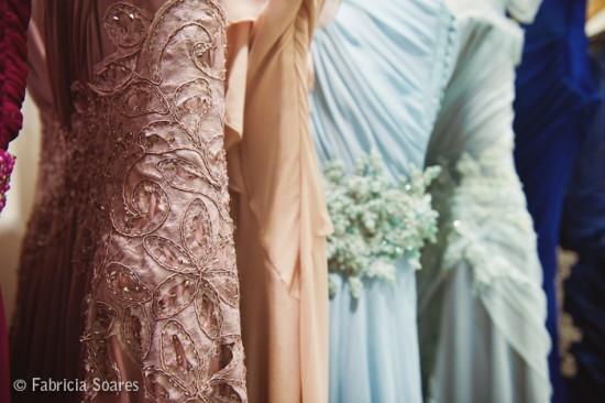 Vestido de madrinhas de casamento. Foto: Fabrícia Soares.