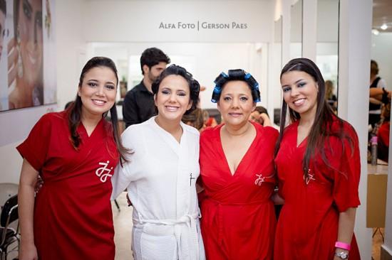 Making of Dia da Noiva: noiva e madrinhas. Foto: Alfa Foto.