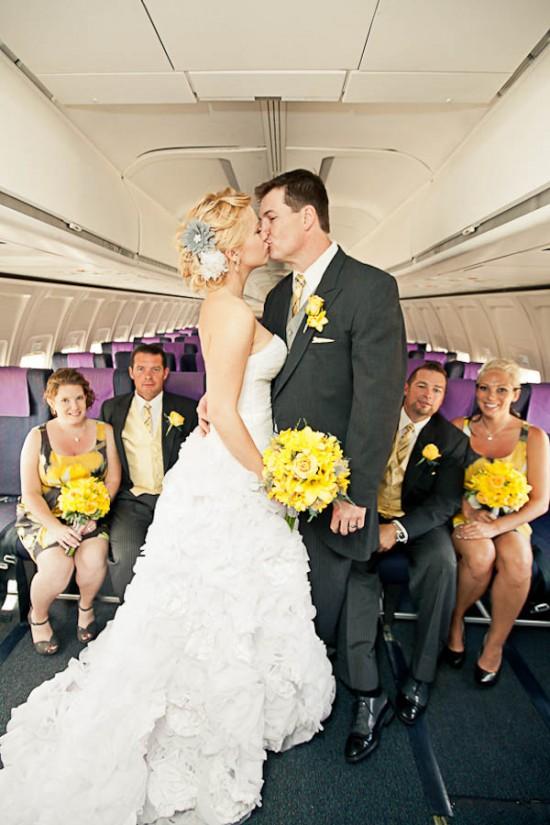Casamento em avião. Foto: ENV Photography.