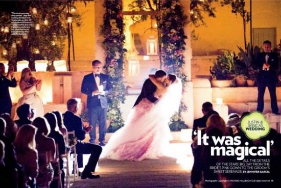 Casamento de Justin Timberlake e Jessica Biel: o beijo dos noivos no altar