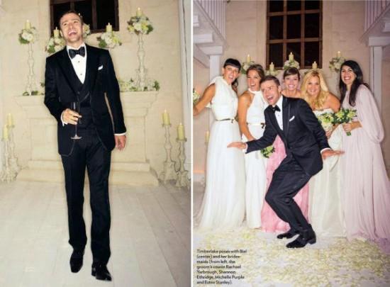 Casamento de Justin Timberlake e Jessica Biel: o smoking do noivo e os vestidos das madrinhas