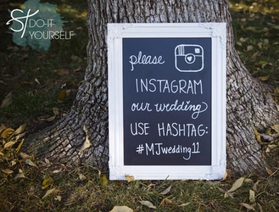 Hashtag de Instagram para casamento. Foto: Something Turquoise.