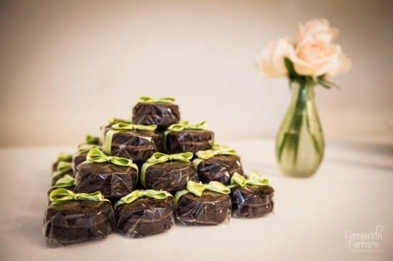 Bem-casado de brownie com Nutella. Foto: Fernanda Ferraro.