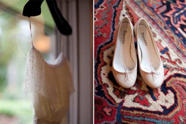 Sapato de noiva: sapatilha da Repetto. Foto: Cybéle Desarnauts.