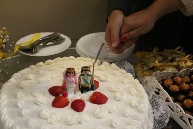 Noivinhos de topo de bolo de Playmobil