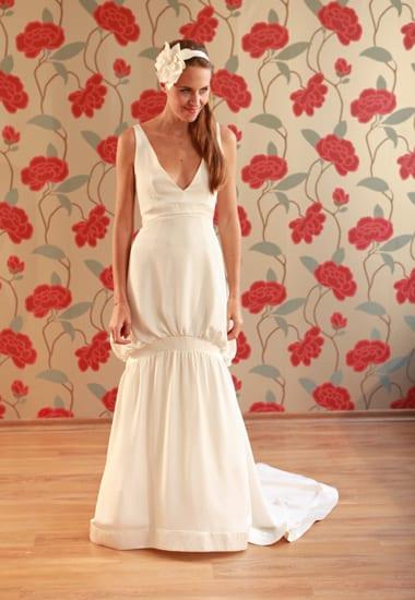Vestido de noiva vintage anos 20 do ateliê Soeurs Waziers.