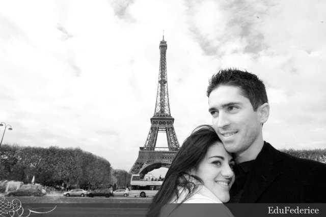Lua de mel em Paris. Foto: Edu Federice.