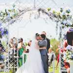 Casamento no campo: o beijo dos noivos. Foto: 18 Elementos.