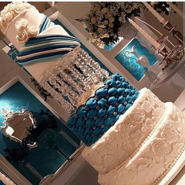 Casamento Thiaguinho e Fernanda Souza: bolo de casamento.