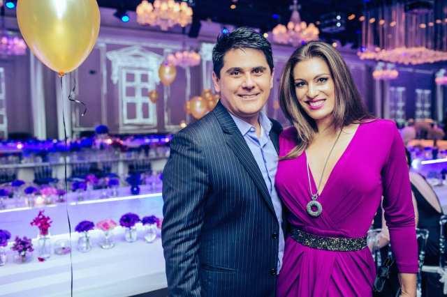 César Filho e Elaine Mickely no casamento de Roberto Justus e Ana Paula Siebert.