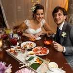 Casamento na praia Tabi e Carlos: jantar espanhol e brasileiro. Foto: André Pinnola