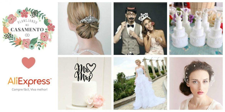Cupom de desconto para melhores produtos de casamento e noivas no AliExpress por blog Planejando Meu Casamento.