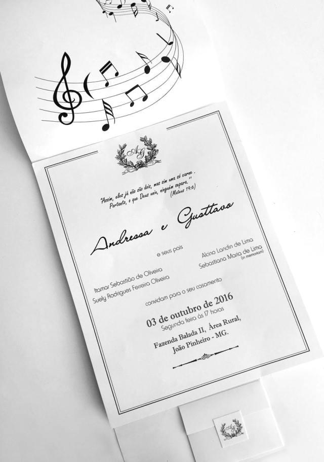 Fotos do casamento Gusttavo Lima e Andressa Suita. Convite do casamento.