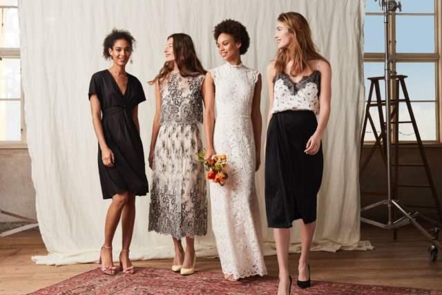 Vestidos de noiva baratos e vestidos de madrinha e daminha de honra da H&M Wedding Collection.