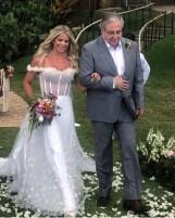Casamento de Karina Bacchi e Amaury Nunes: o vestido de noiva. Foto: @ansiedadesdeumanoiva