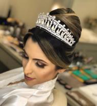 Fotos de penteados de noiva: coque. Foto: @flaviafabiane