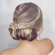 Fotos de penteados de noiva: coque. Foto: @marcelledebossan