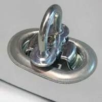 Oval, verzinkt 42 x 22mm + Drehverschluss verzinkt
