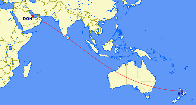 gcmap longest flight qatar