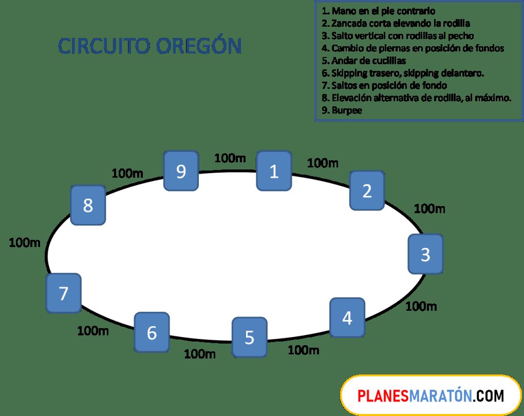 Ejercicios del circuito de fuerza Oregón para corredores
