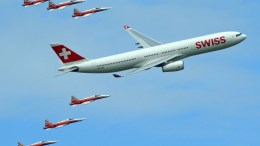 Patrouille Suisse and Swiss Airbus A330