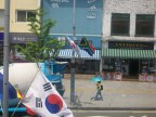 SA is representing in Itaewon! Yeah OK, so does just about every other country, but it's pretty cool to recognise your own flag.