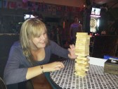 Where else would it be OK to play a game of Jenga at the local bar?