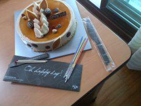 My welcome cake. It's quite a regular occurrence for foreign teachers to be given flowers and a cake when they arrive. I love the packaging - cakes come in fancy boxes, with candles, matches and a knife.