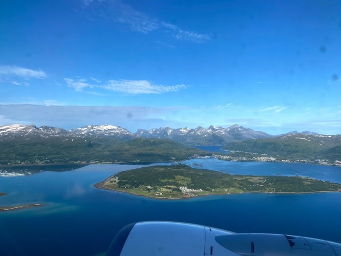 plane with view of Norway