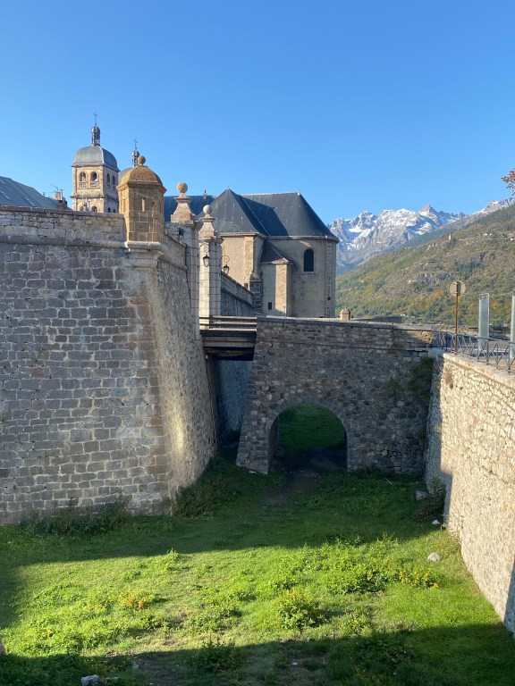 briançon france with mountains and fortress