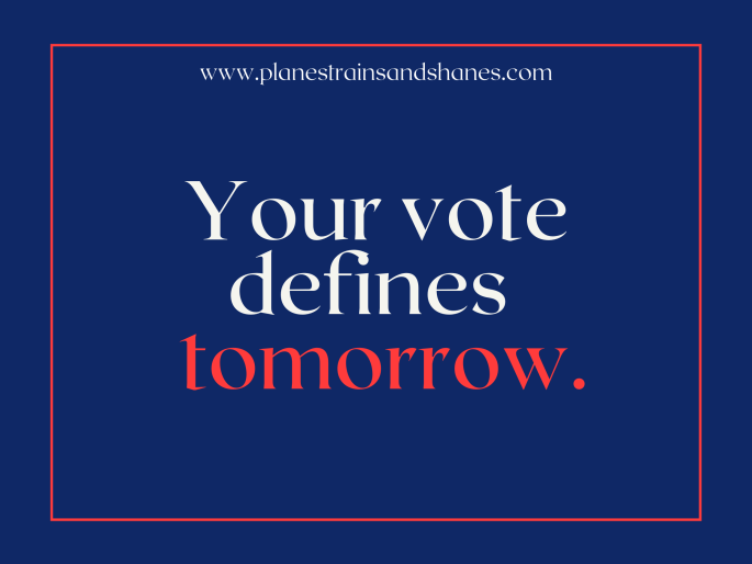 your vote defines tomorrow. vote while living abroad