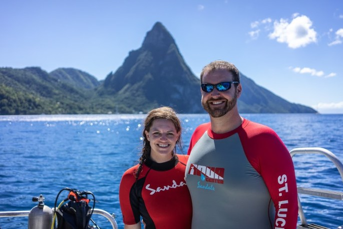 scuba diving in saint lucia