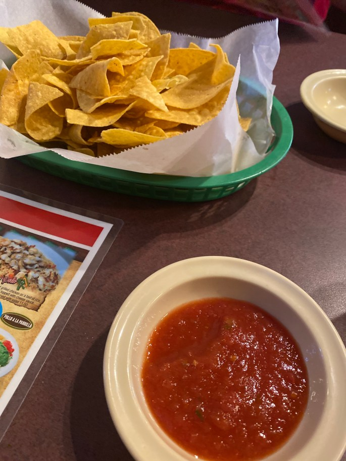 mexican chips and queso in the garden city of augusta