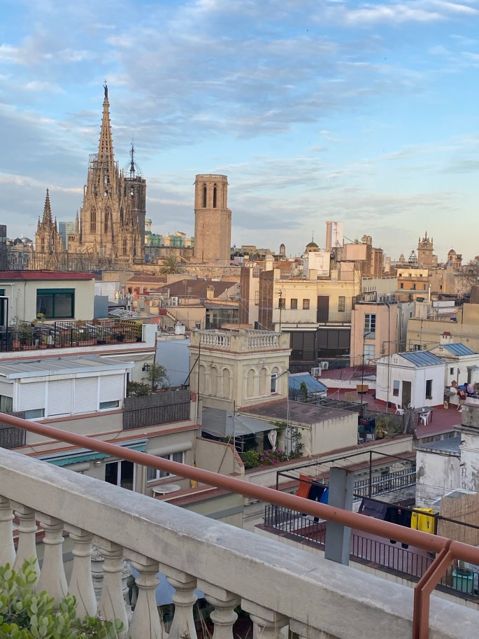 view from Kimpton Vivadora hotel in Barcelona Spain