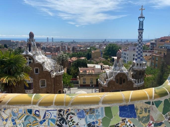 park güell in barcelona spain