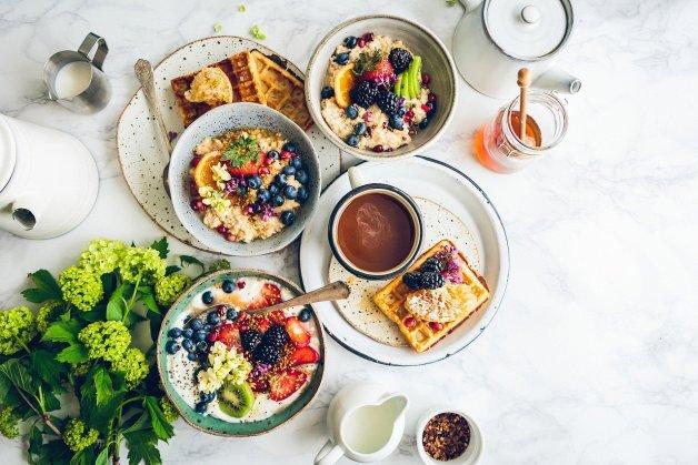 Petit déjeuner qui donne envie.