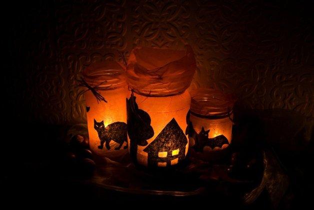 Idée photophores d'halloween 1.