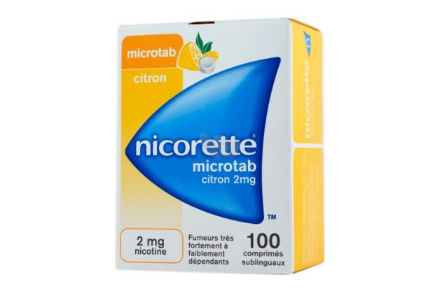Microtab pour arrêter de fumer.