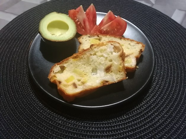 Recette de Cake courgettes et fromage de chèvre.