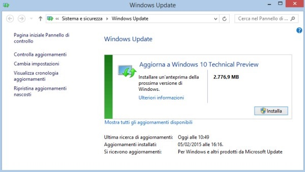 windows 10 tech preview update
