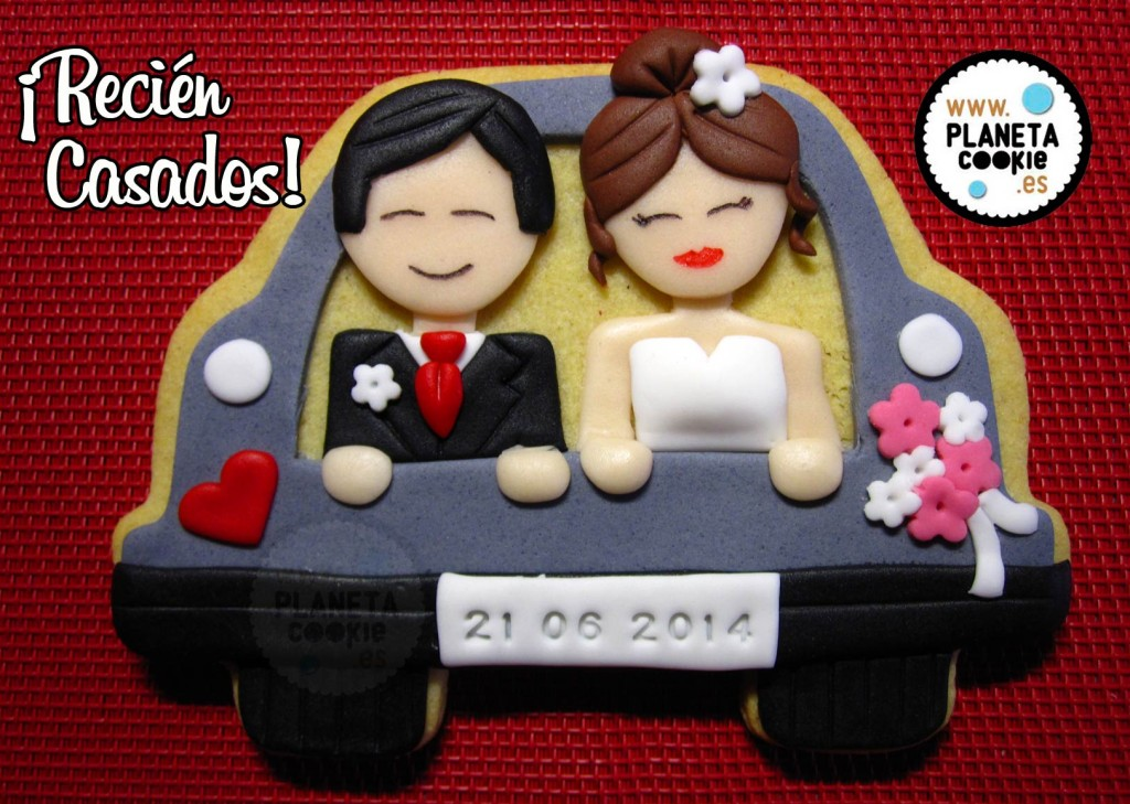 Galleta coche de novios  Planeta Cookie