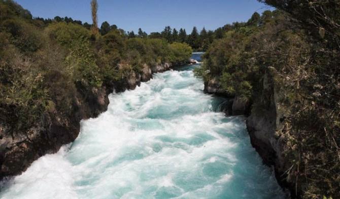 Hukka Falls Nouvelle Zélande